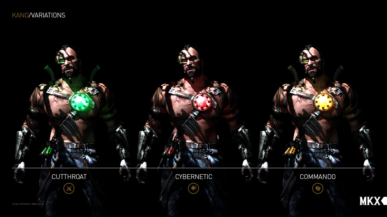 Kano's fighting style's in MKX