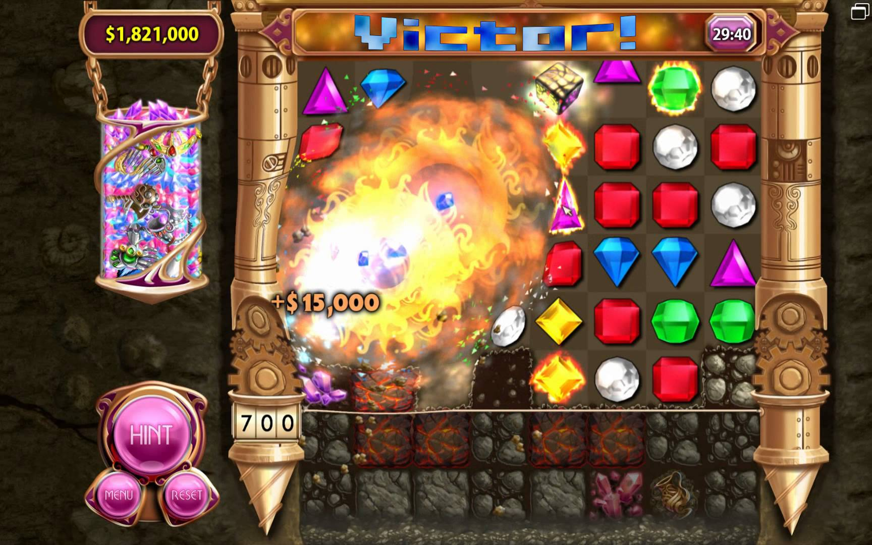 Bejeweled 3 has stunning new graphics and new modes to explore including ticking time bombs