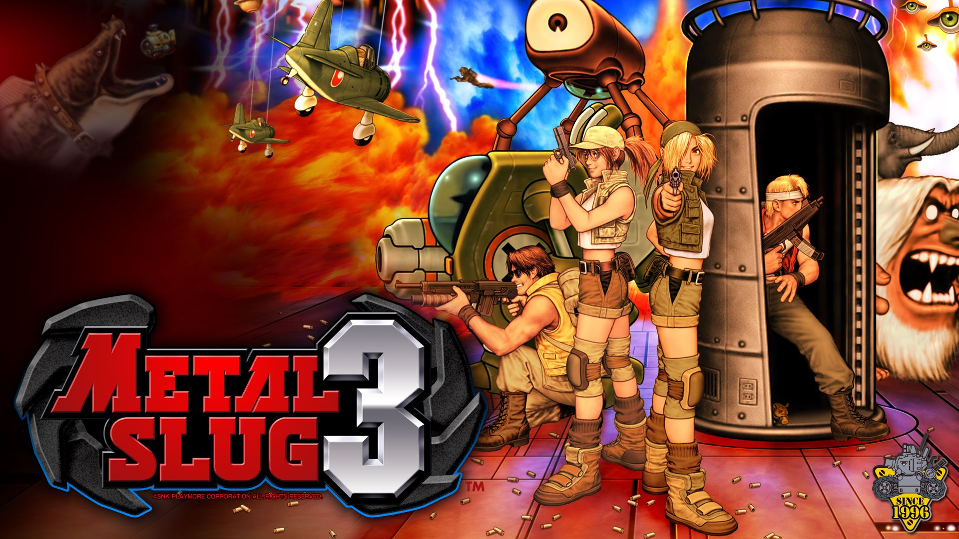 All your favorite characters are back in Metal Slug 3