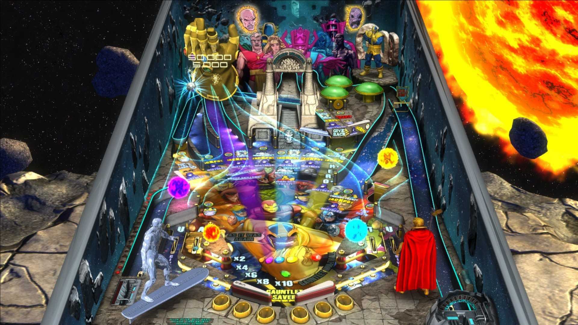 It plays much like real pinball. You can even nudge the table to influence the path of the ball.