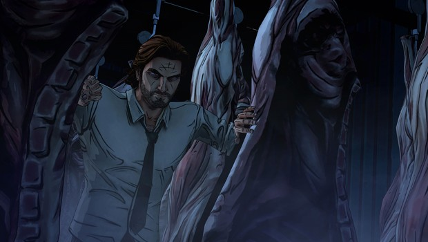 Bigby in a meat freezer