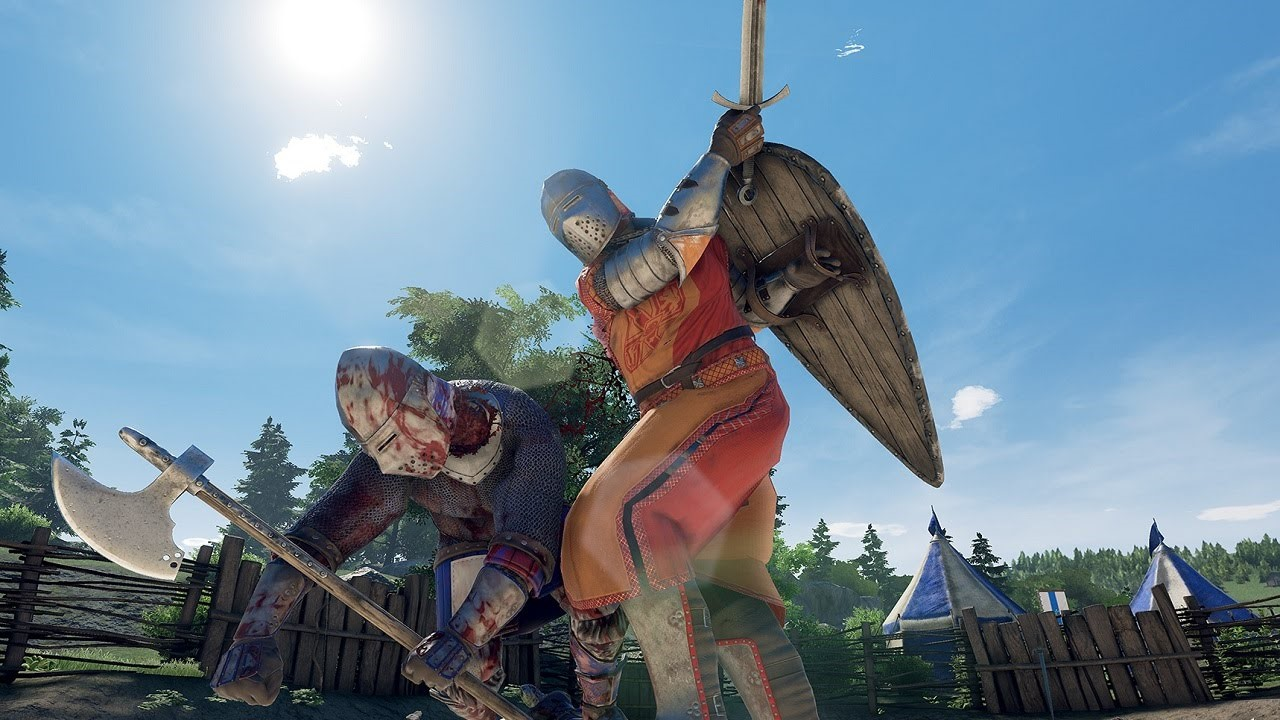 Mordhau features realistic combat and reactions – a slash to the neck will result in decapitation.