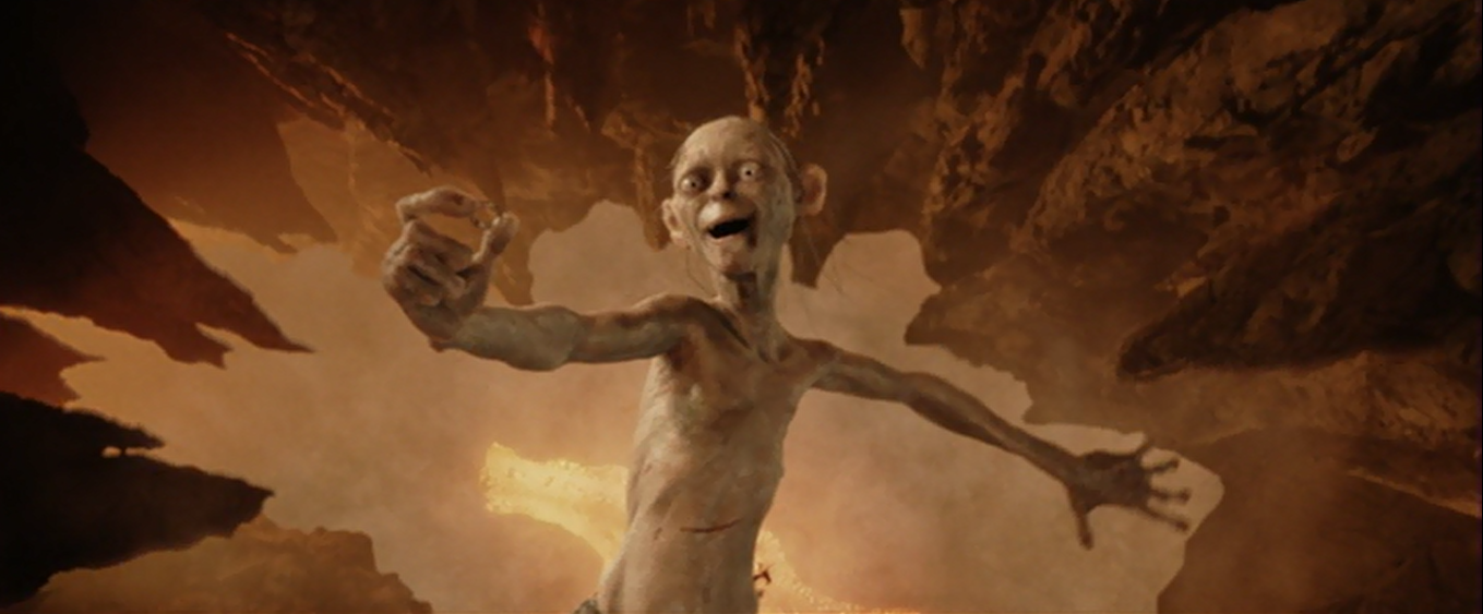 25 Most Memorable Lord of The Rings Characters and Their ... Gollum Falling Into Mount Doom