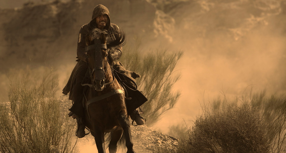 Aguilar on a horse.