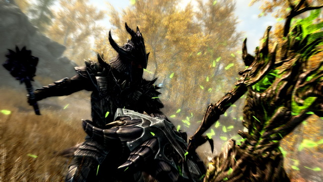The Dragonborn comes face-to-face with a variety of lethal enemies.