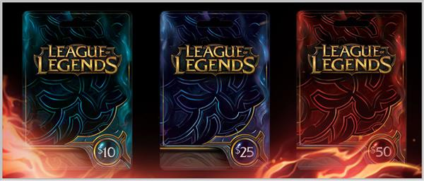 League Of Legends Riot Points Gift Card - Gift Card Ideas