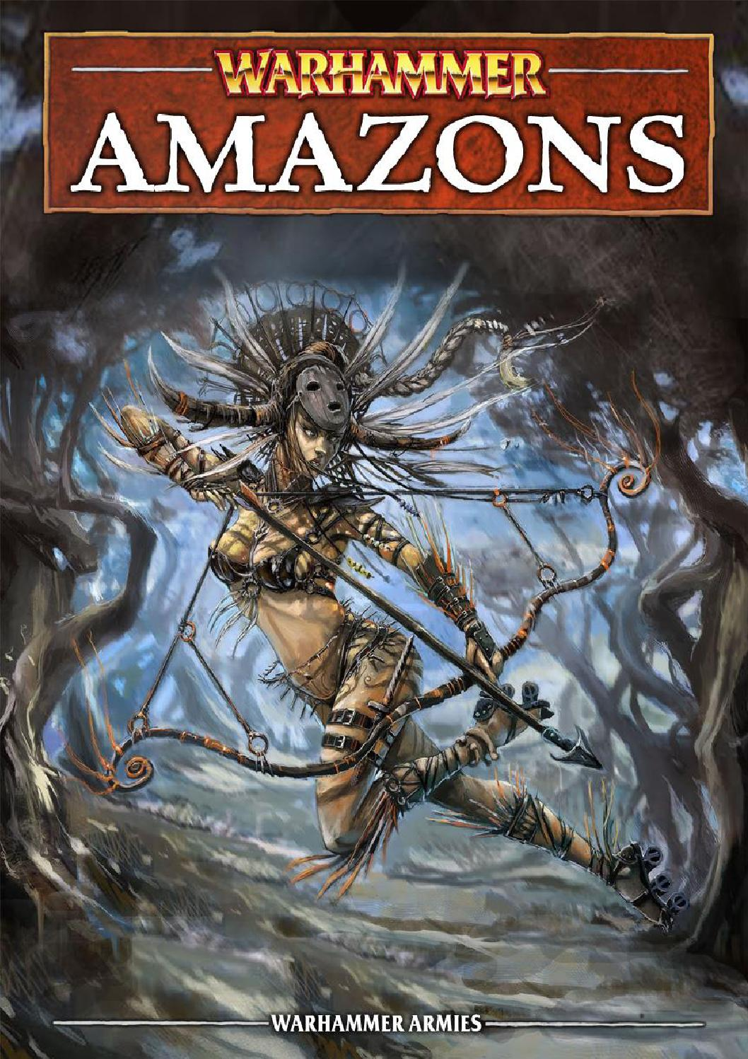 The Amazons, mysterious warrior women of the Lustrian jungles.