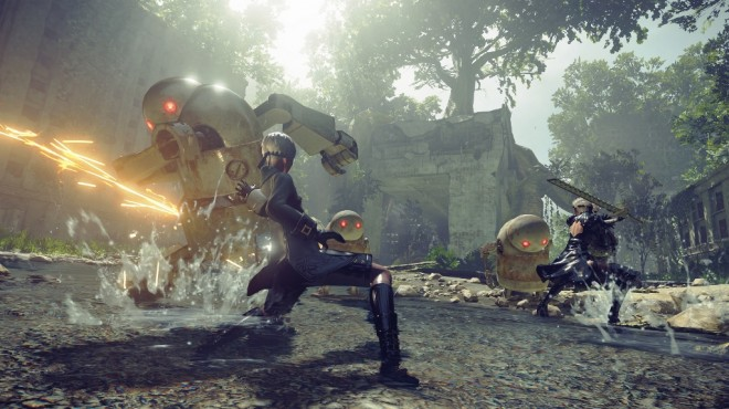 Players will have to play against insane robotic lifeforms if they hope to survive NieR: Automata