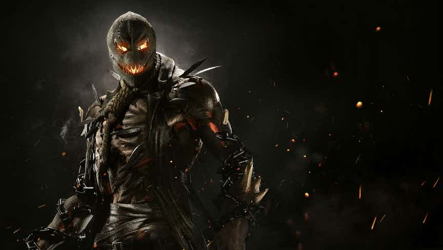 Scarecrow, one of the new villains added to Injustice 2.