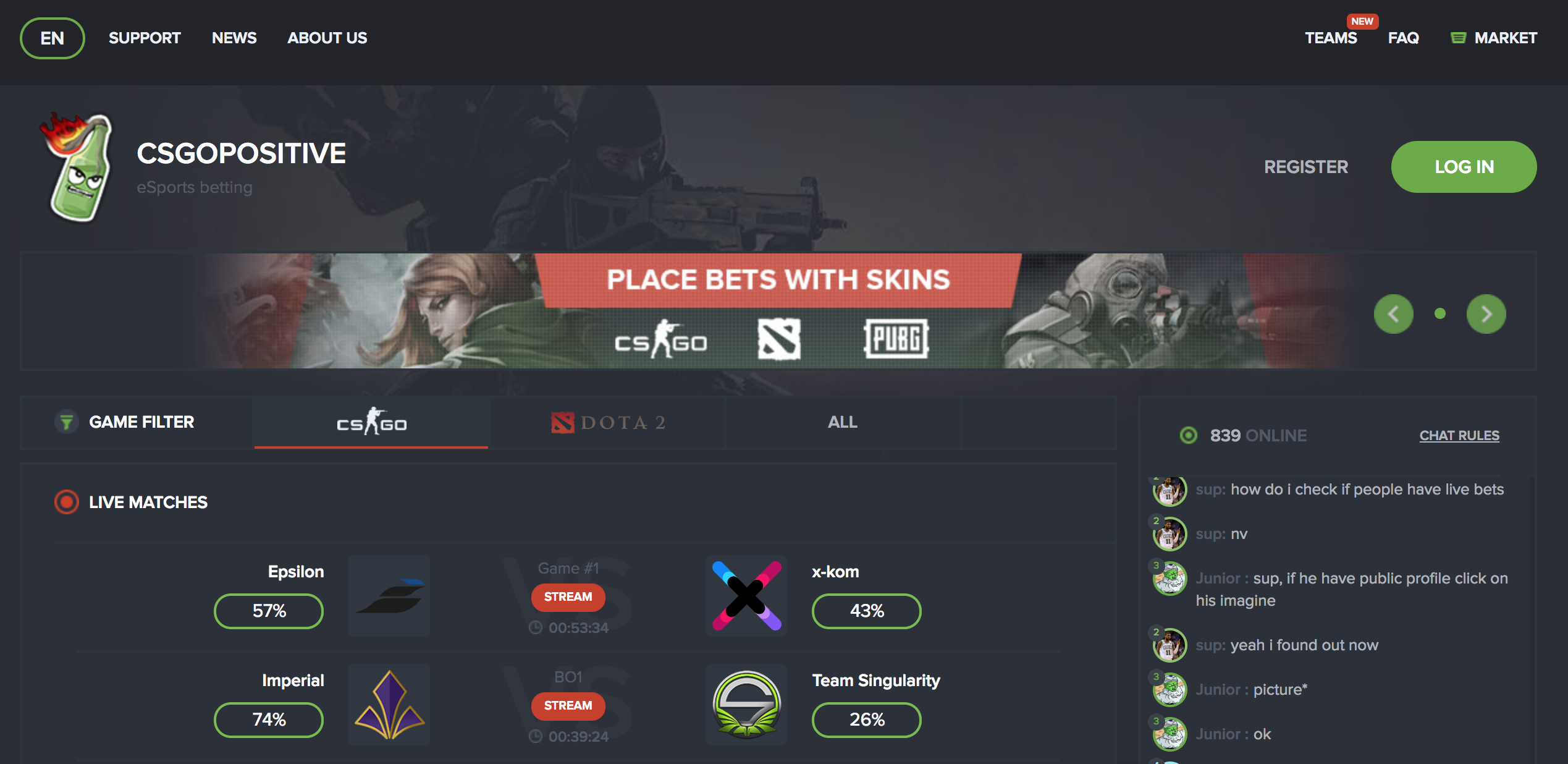 Ntn csgo betting 888 betting rules in blackjack
