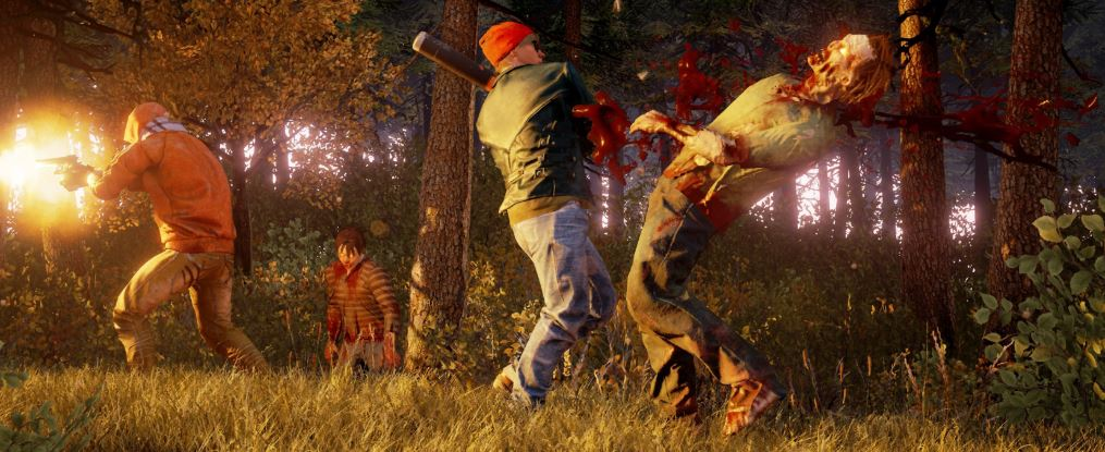 Players using teamwork to make short work of a few zombies