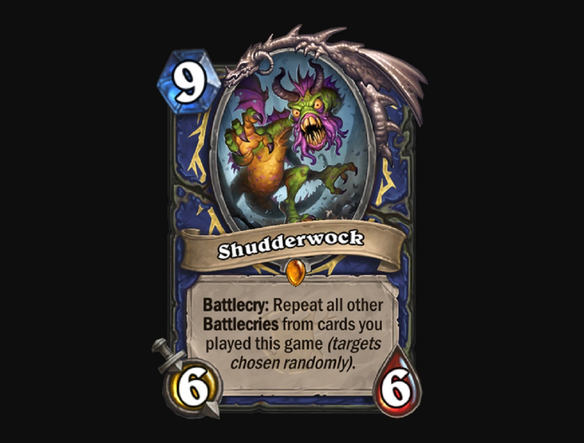 Beware the Shudderwock, my son. We're fresh out of vorpal daggers.