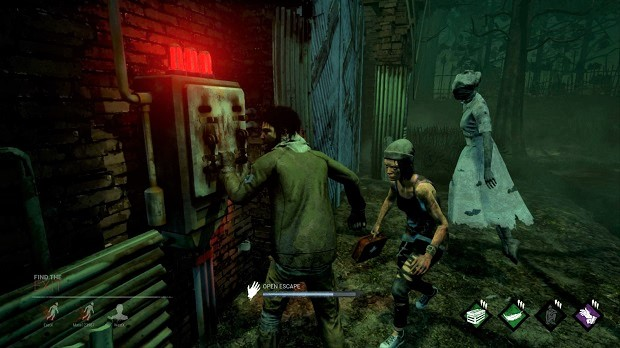 Escaping, exit gate, nurse, dead by daylight