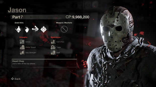 friday the 13th game weapons