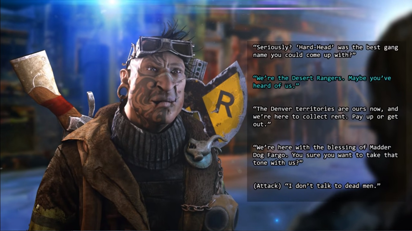 Dialogue in Wasteland 3