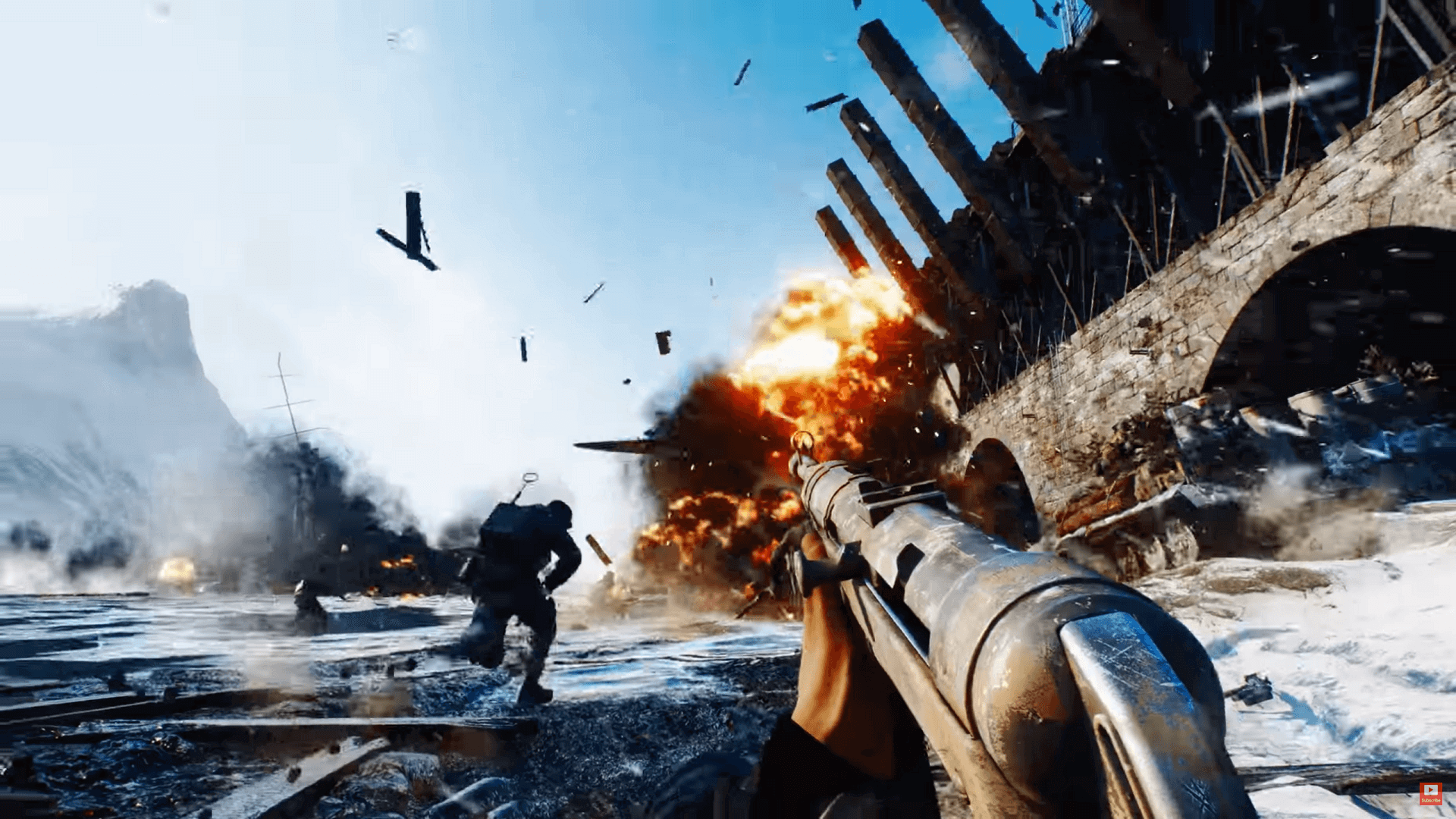 Battlefield destruction in Battlefield 5