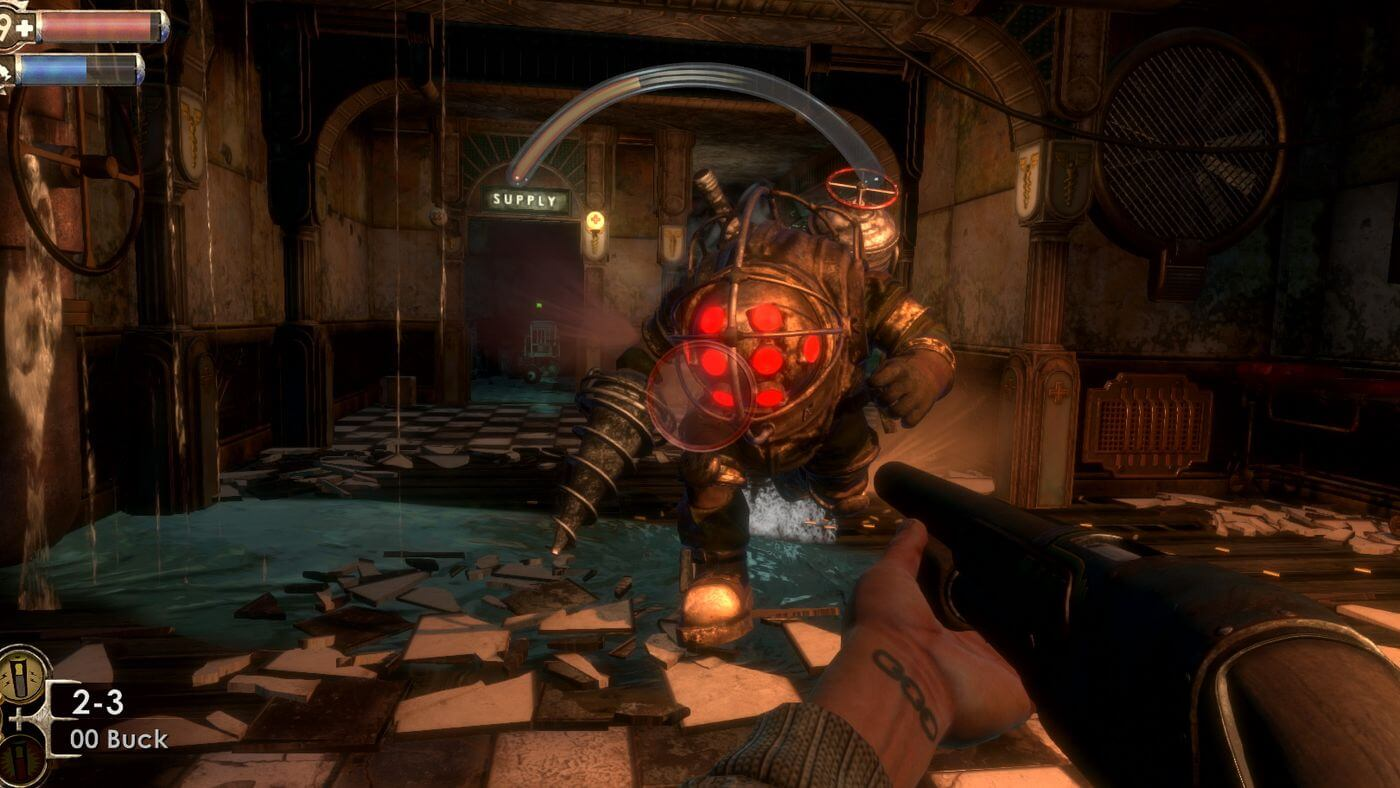 A Big Daddy in Bioshock Remastered