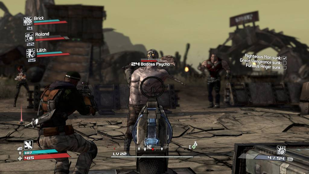 Coop gameplay in Borderlands