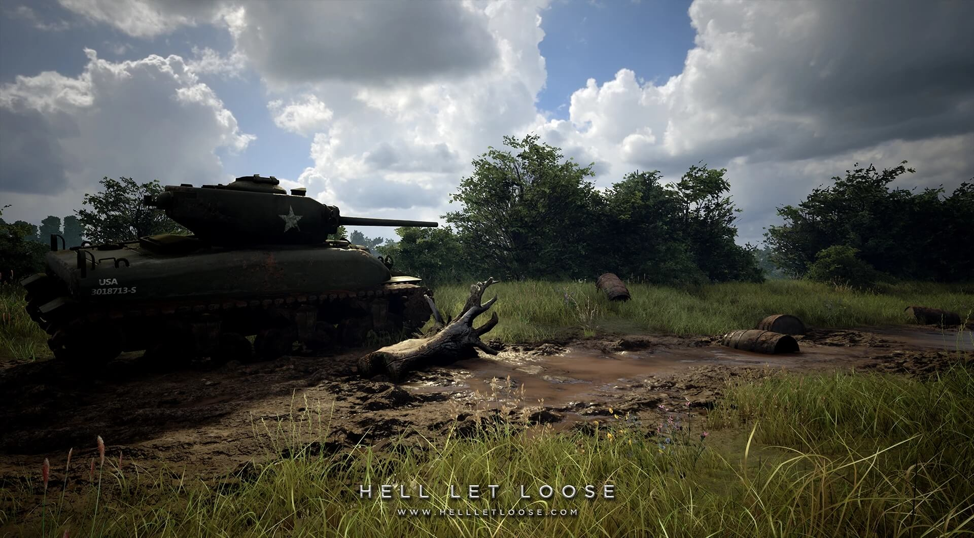 An American tank in Hell Let Loose