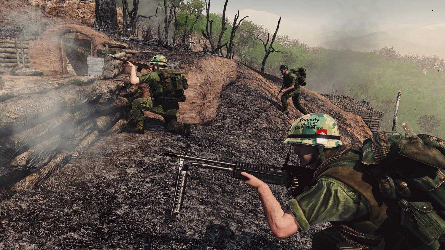 Fighting for a hill in Rising Storm 2 Vietnam