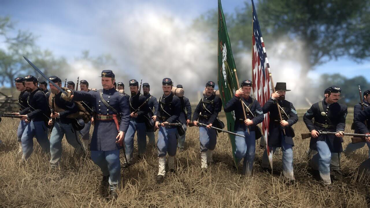Marching soldiers in War of Rights