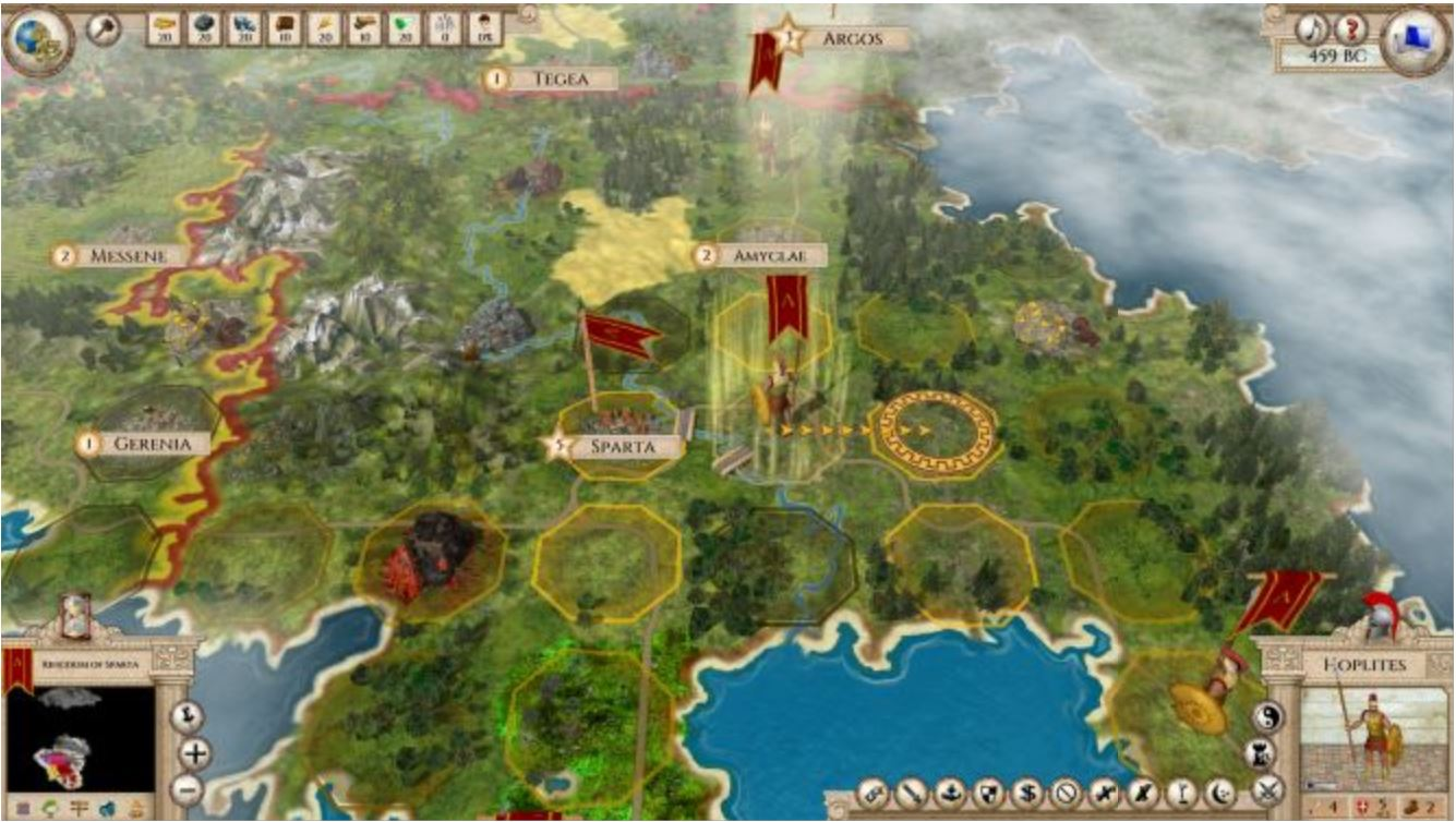 Familiar Mechanics: The hex-based grid is welcoming to Civ 5 players, and the game has a look and feel akin to Civ 4.