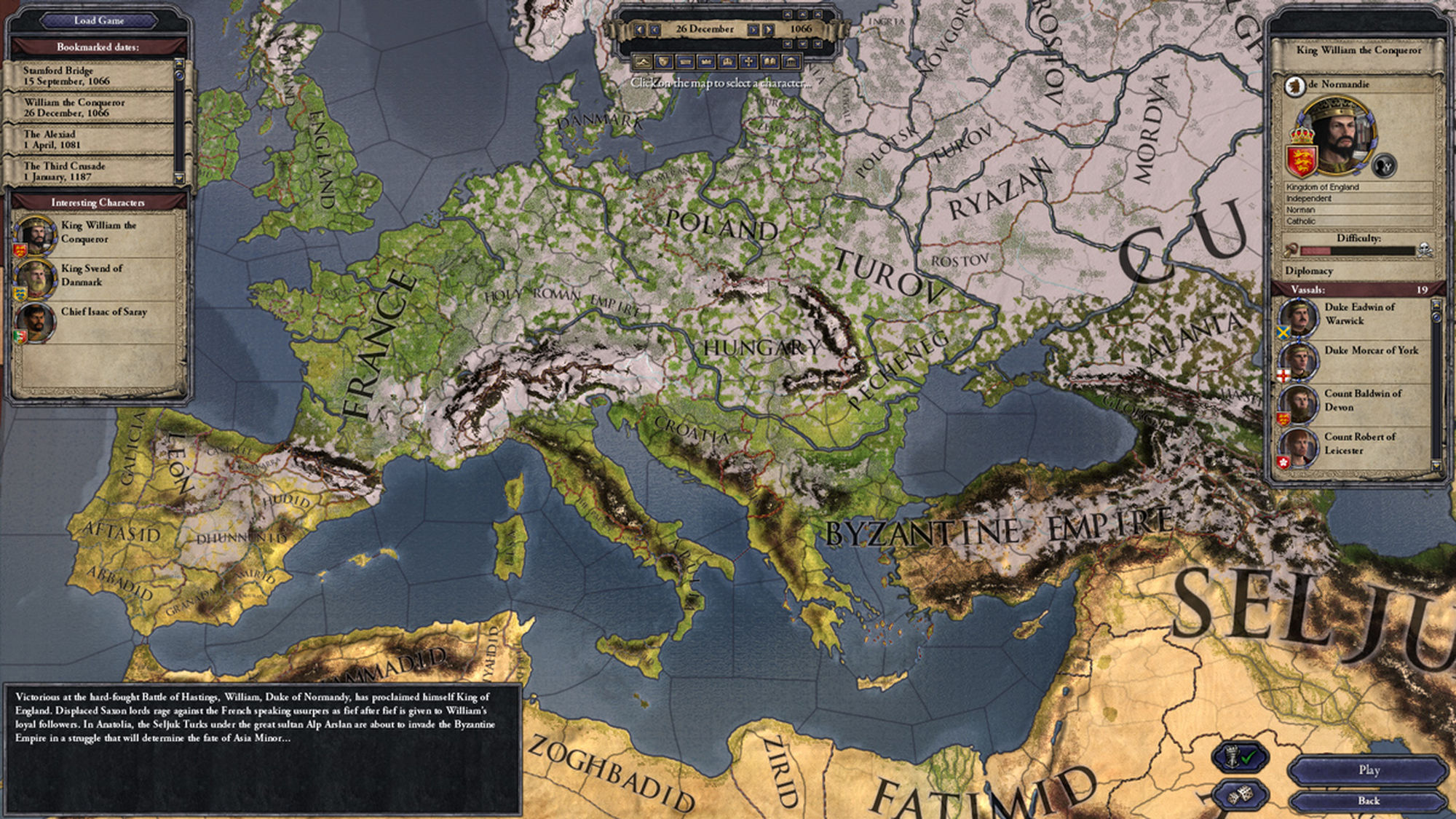King of Kings: Several historical figures vie for these lands in CK2.