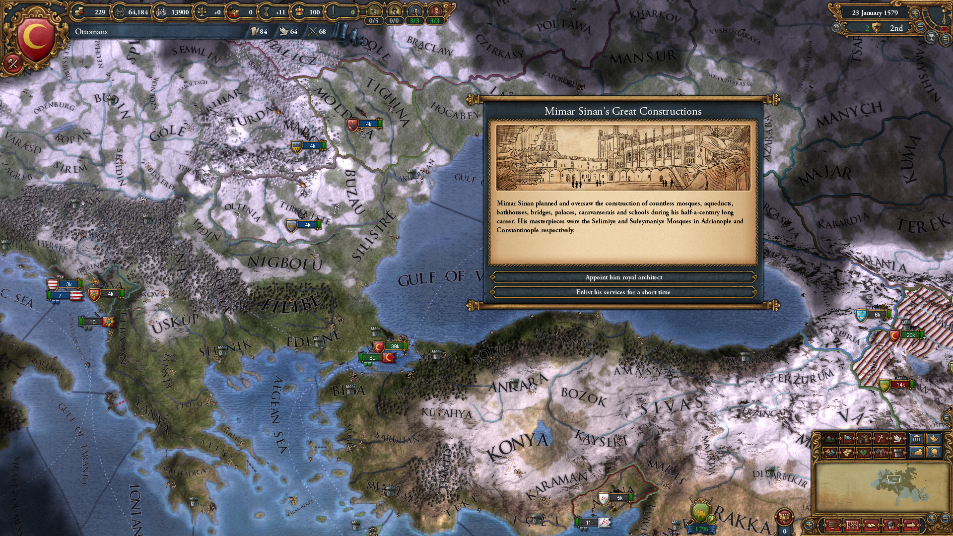 Dynamic Topography: EU4 features terrain that changes with the seasons.