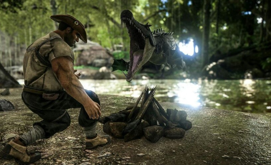 A hunter becomes prey in ARK: Survival