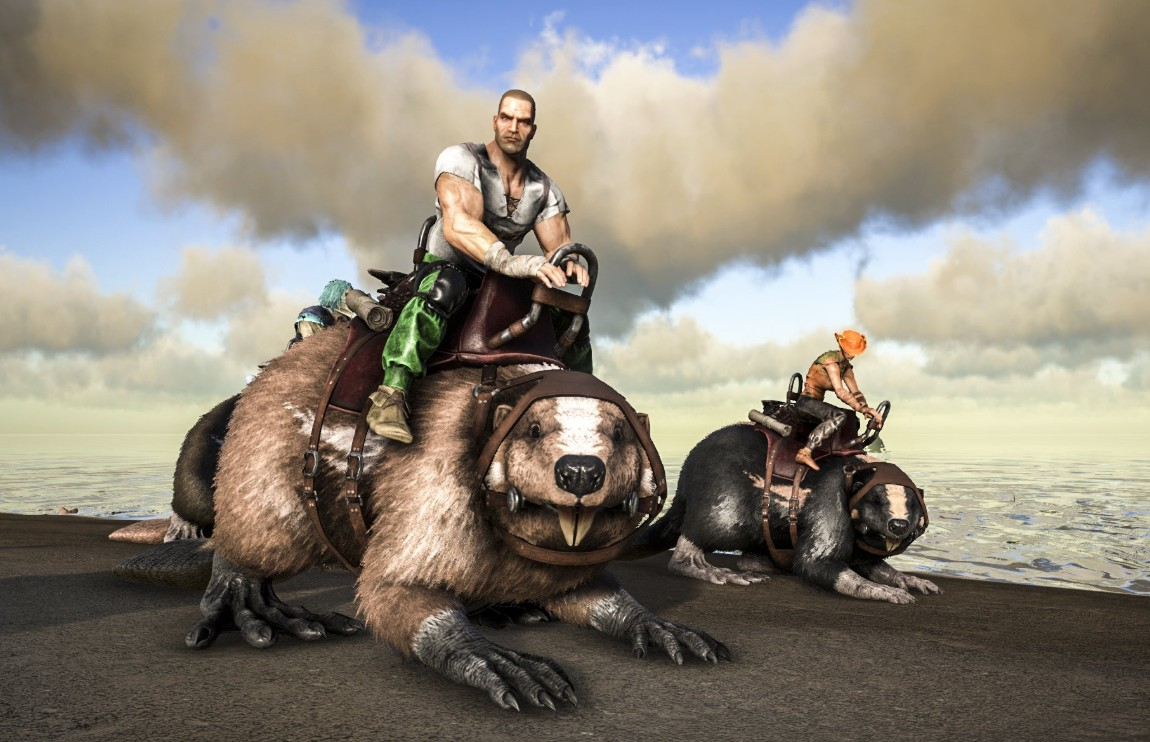 Ride the backs of giant beavers in ARK: Survival