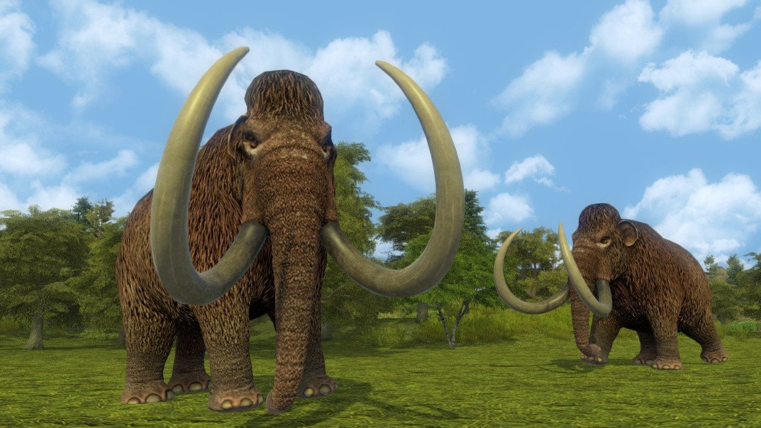 Mammoths make for good food and clothes