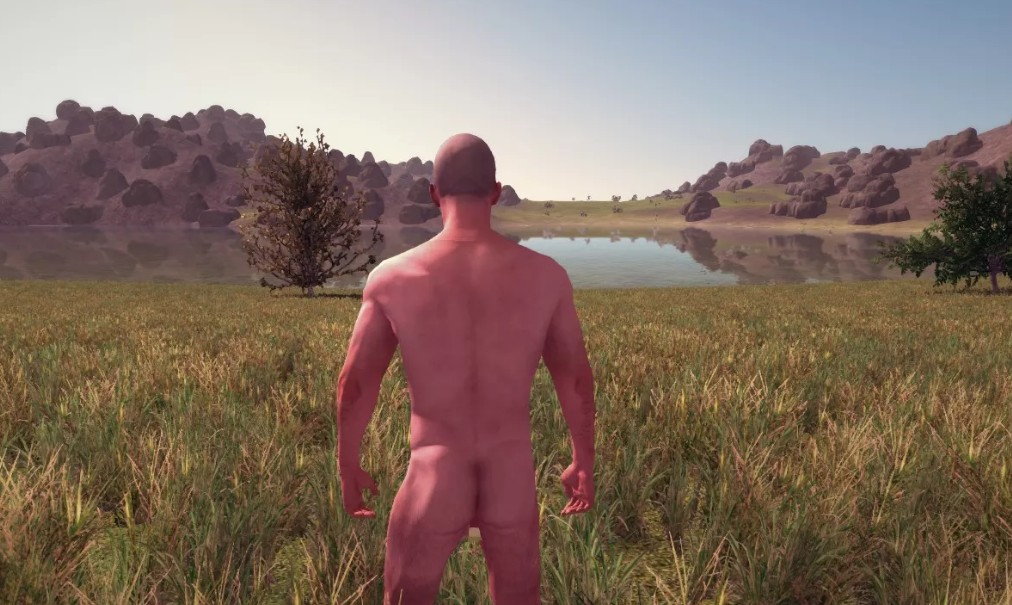 naked man starting for Rust