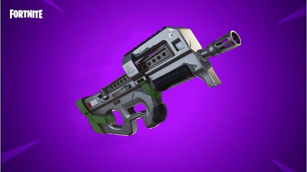loadout grappling gun scar pump shotgun compact smg small shield potion - original fortnite smg