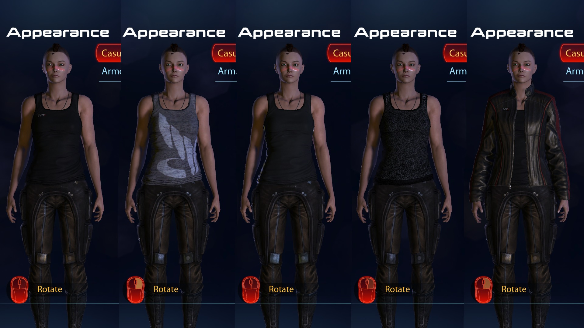 Me3 Appearance Codes