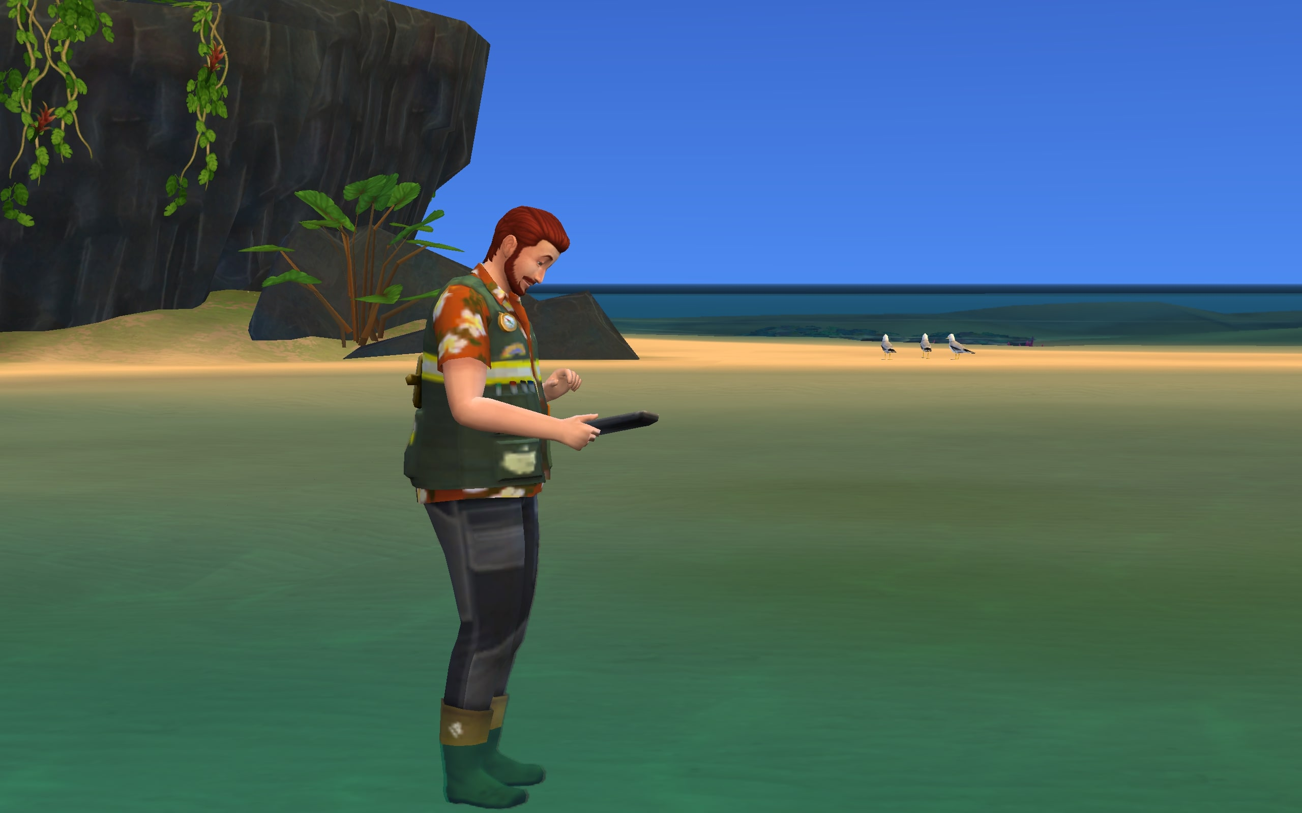 A Conservationist Sim on duty in Sulani.