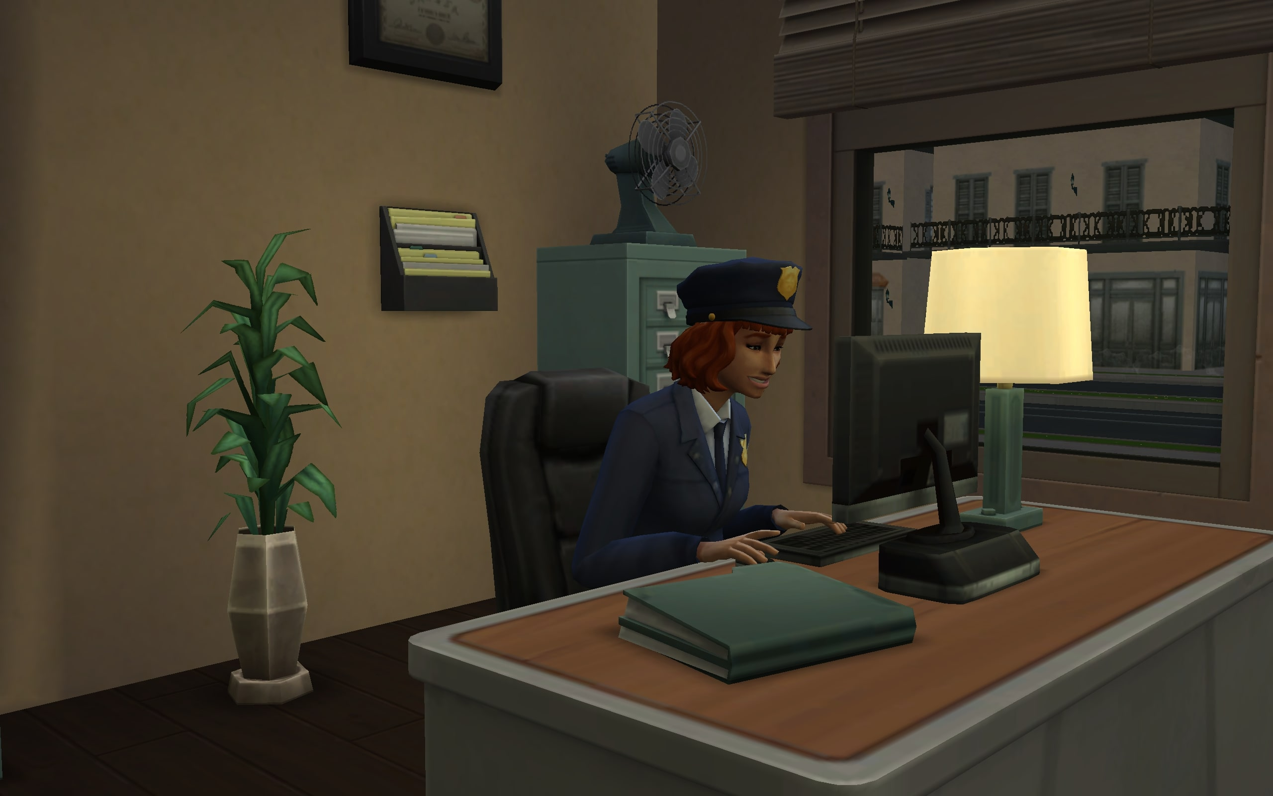 A Detective Sim doing detective work.