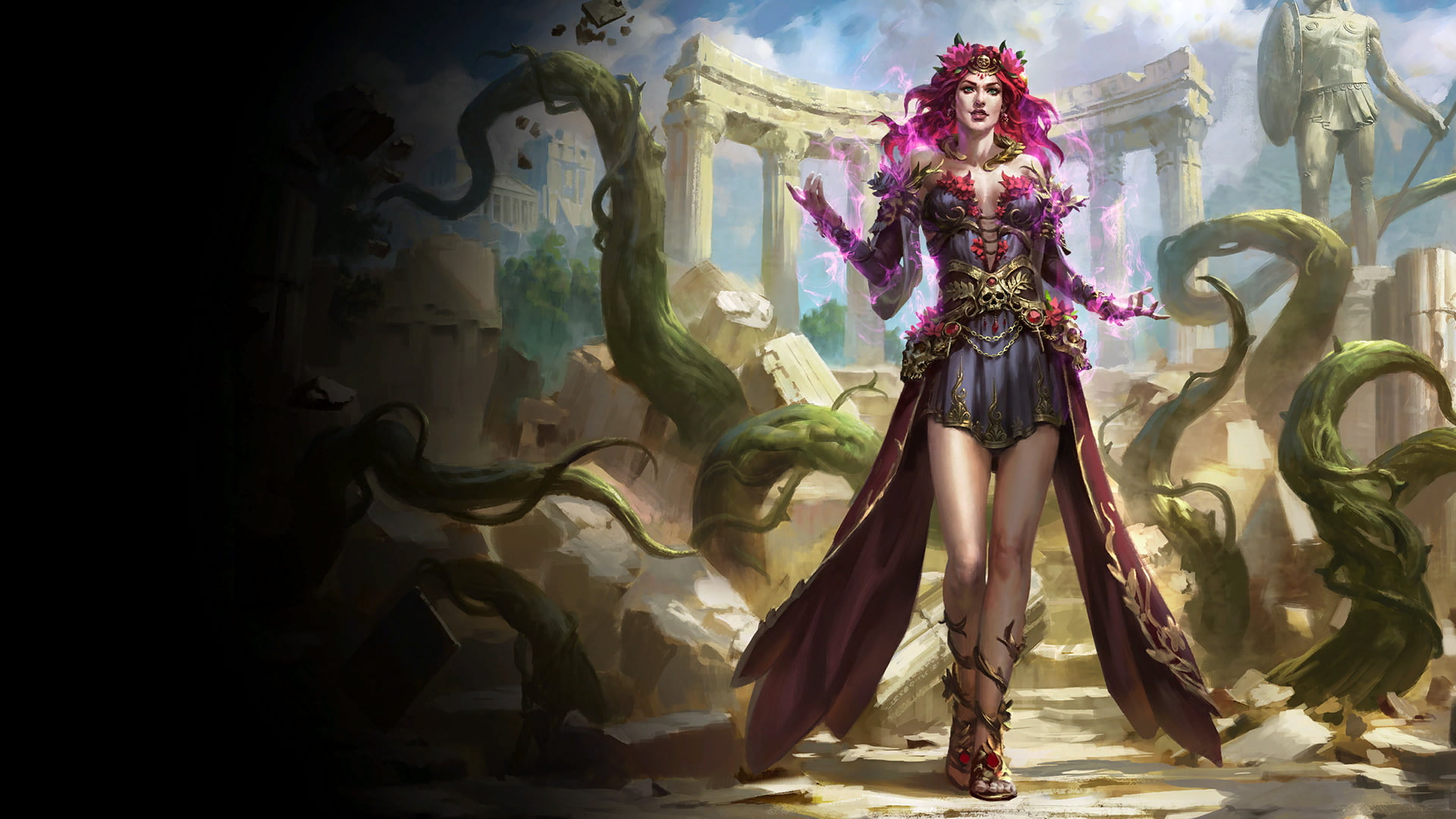 The deadliest of gardeners, Persephone waters her plants with YOU!