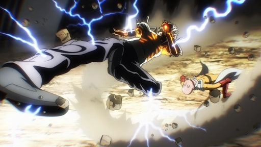 Genos first attack in the fight