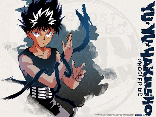 Hiei with his darkness dragon