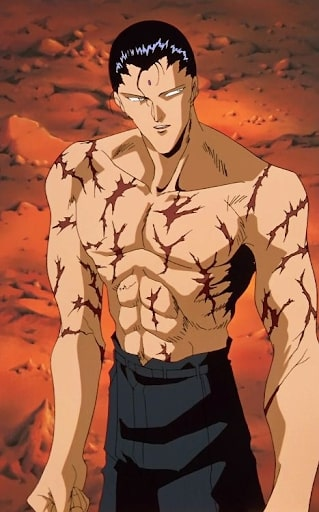 Sensui and his battle scars