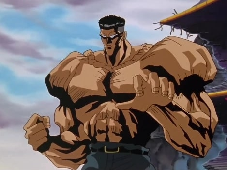Younger Toguro after he destroyed the arena