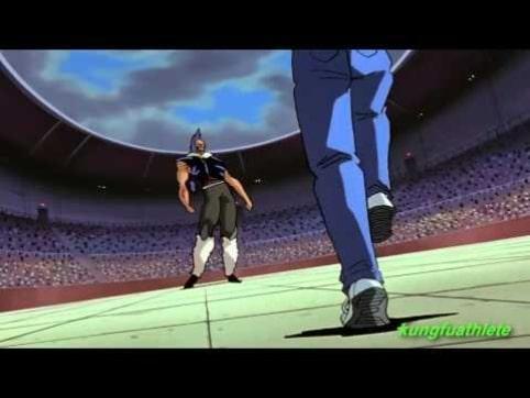 Yusuke facing Chu