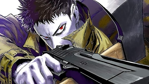 Zombie Man aiming down sights