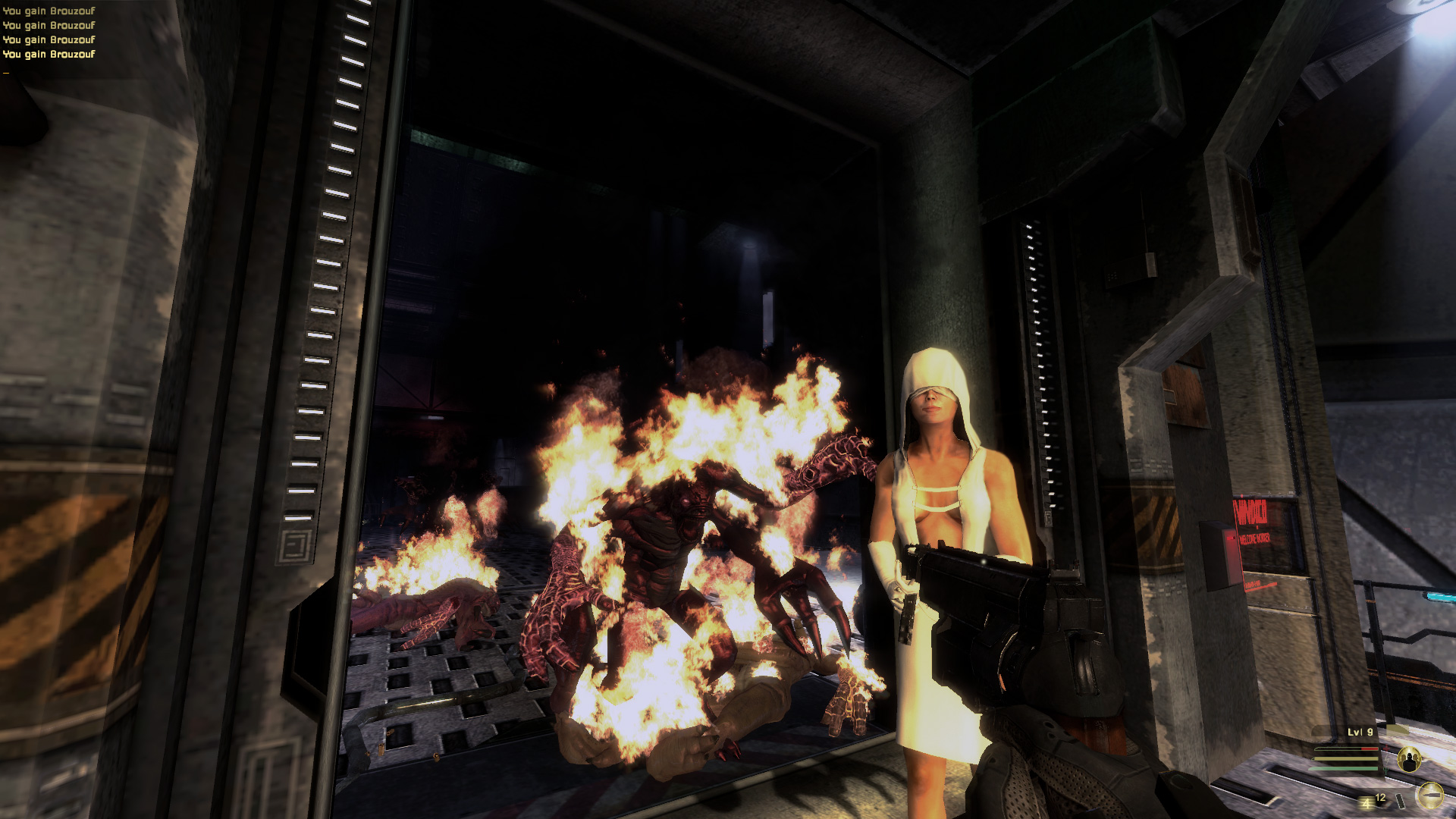 EYE, Dvivine Cybermancy, Nun, Cybernetics, Monster, Fire, Game