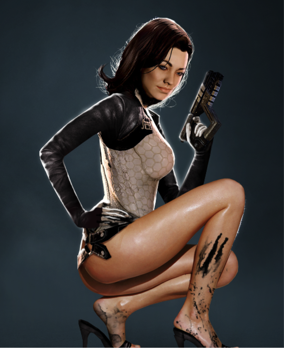 Naked miranda from mass effect hentai image