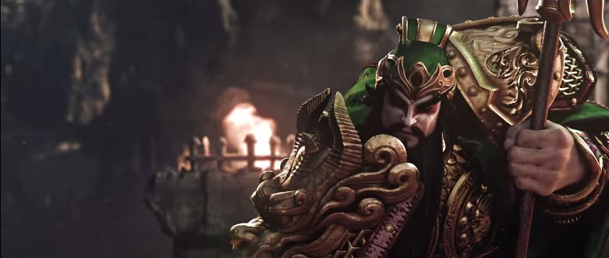 Guan Yu, the Chinese Saint of War, takes a breather before resuming his fight with Thor.