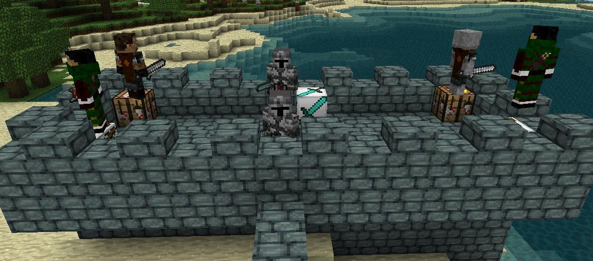 майнкрафт мод защита замка #4