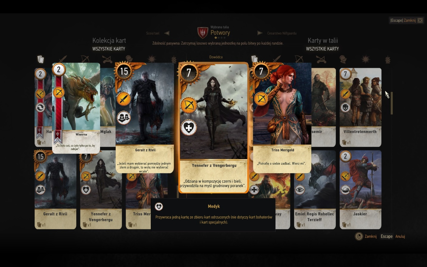 witcher 3 how to get the best gwent cards