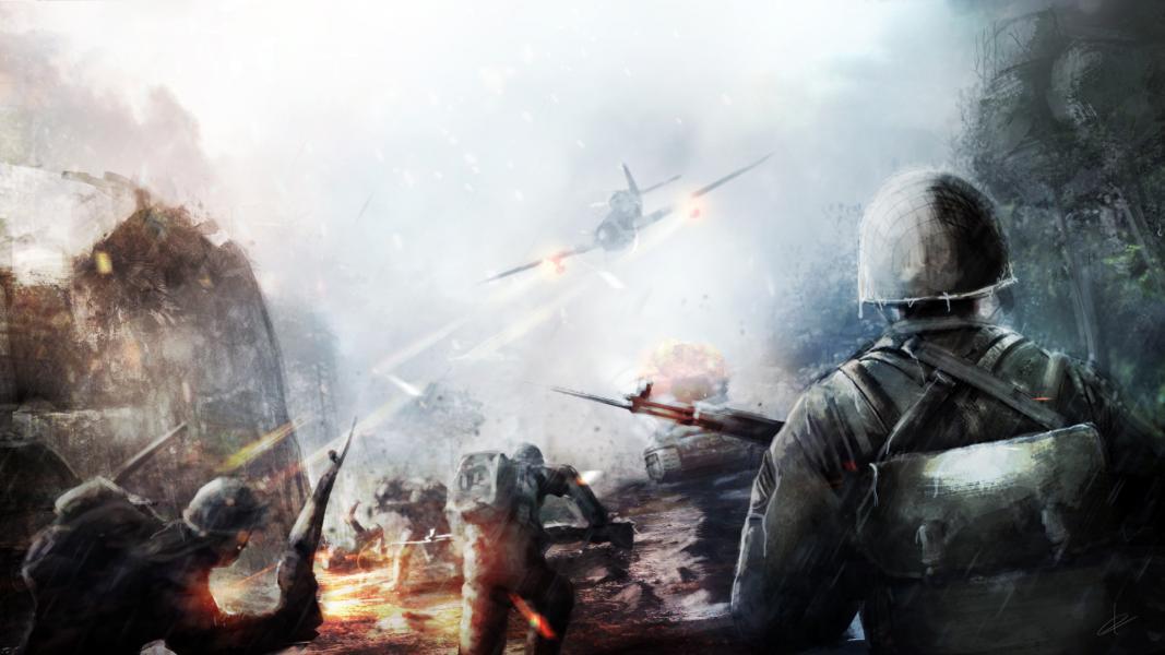 Battlefield 5 wishlist 10 things we want in battlefield - Battlefield v concept art wallpaper ...