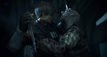 Resident Evil 2 Remake-Powerful Stabbing Attack
